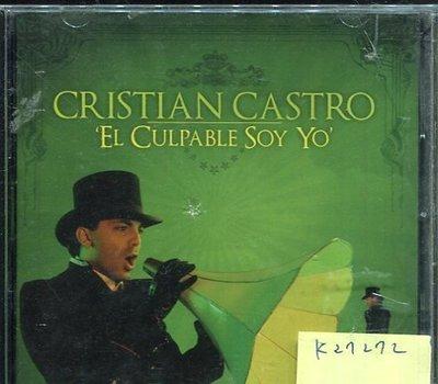 *真音樂* CRISTIAN CASTRO / EL CULPABLE SOY YO 二手 K27272 (殼破)