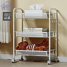 全館折扣 可行動臥室床頭置物架廚房小推車帶輪子浴室客廳收納層架igo