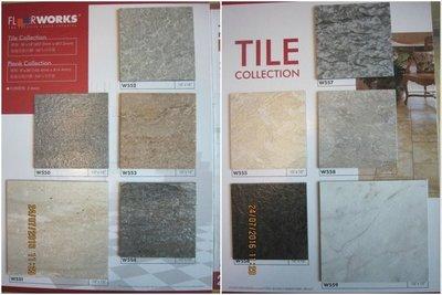 德國原料製塑膠地板-FLOOR WORKS超真實!枕木紋塑膠地磚塑膠地板~15cmx90cmx2.0m/m,570元/坪