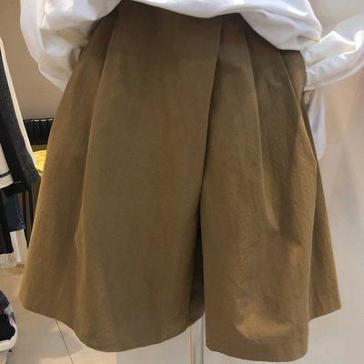 春夏寬褲顯瘦寬褲短褲褲裙 設計款寬鬆不對稱闊腿褲  艾爾莎【TAE8410】