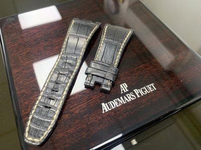 【永大精品】Audemars Piguet AP 26470 二手原廠鱷魚皮錶帶 錶耳 28mm✖️20mm