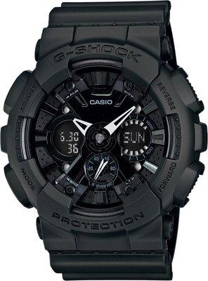 【金台鐘錶】CASIO 卡西歐G-SHOCK 雙顯設計 防水200米 全黑 (消光黑) GA-120BB-1A