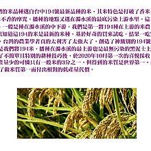 水源地194號米【首耕/首賣/100%無摻米】2KG