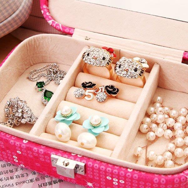 5Cgo【鴿樓】會員有優惠 43166088381 皮革飾品盒 歐式公主可愛首飾盒 收納盒 珠寶戒指盒 大號