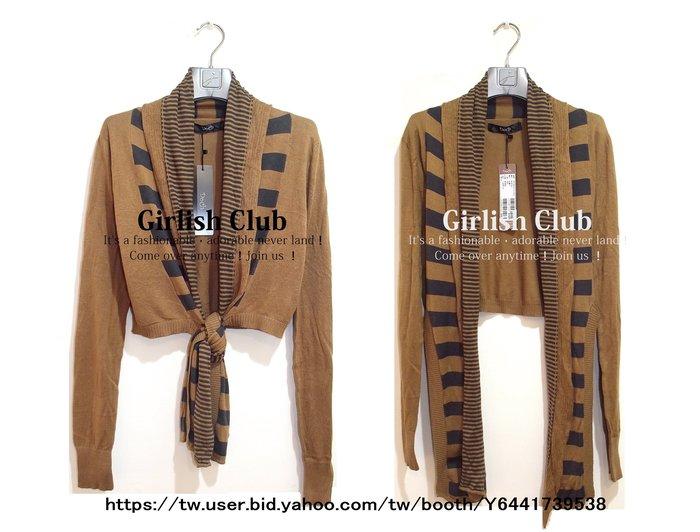 【Girlish Club】專櫃Doch圍巾式針織衫外套原1680(m1084)mia韓國sz萊卡佛iroo二三一元起標
