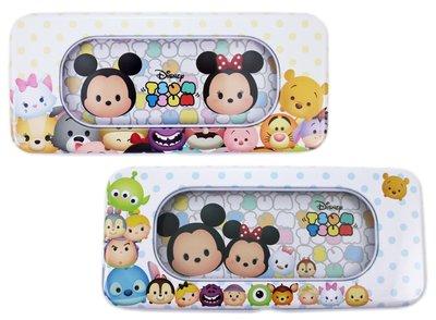 【卡漫迷】 Tsum 雙層 鐵筆盒 二款選一 ㊣版 兒童 鉛筆盒 馬口鐵 文具盒 迪士尼 米奇 史迪奇 維尼熊 三眼怪