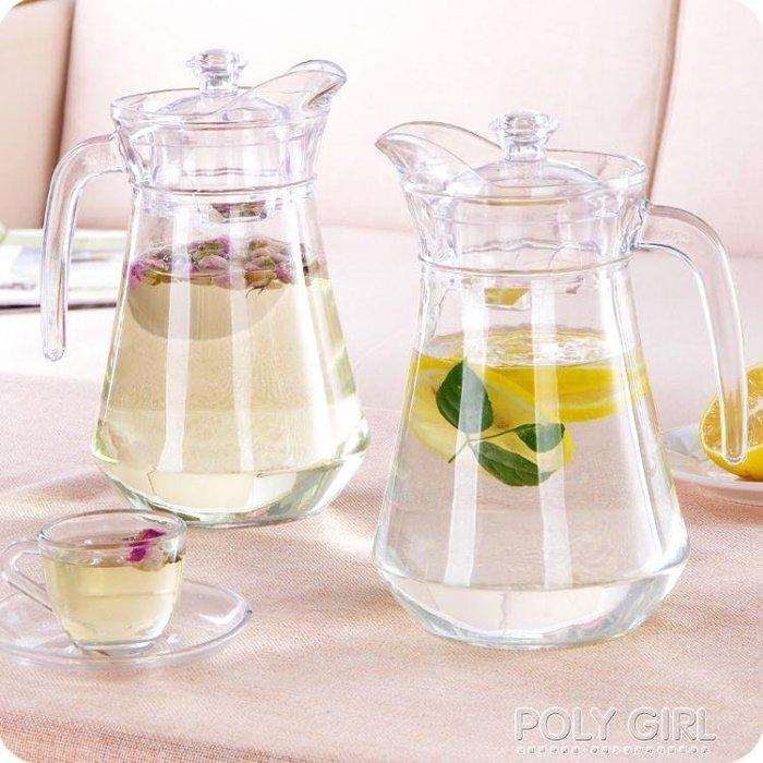 優思居 玻璃冷水壺 大容量耐熱涼水壺裝白開水壺果汁壺紮壺鴨嘴壺