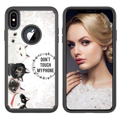 蘋果iphone X XR XS Max 7 8 Plus 彩繪手機套 TPU手機殼 全包邊保護套 軟殼