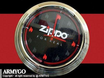 【ARMYGO】ZIPPO原廠-霓虹燈造型大型時鐘 (直徑 35cm)