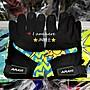 〈JN騎士用品〉現貨 ARAYI 短手套 類AGV彩繪手套 WAKE UP 時鐘 透氣 防曬