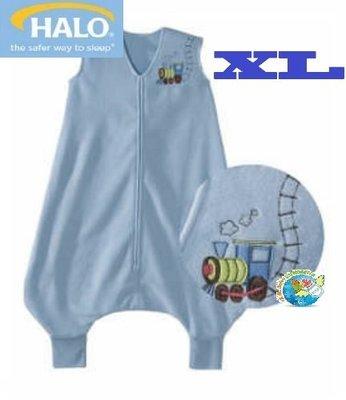 X.H. Baby【美國HALO】SleepSack Early Walker 防踢被 背心 睡袋 秋冬刷毛 藍色火車