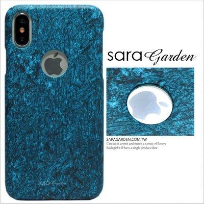客製化 手機殼 iPhone X 8 7 Plus 硬殼 簍空 湖水綠大理石【J0920006】
