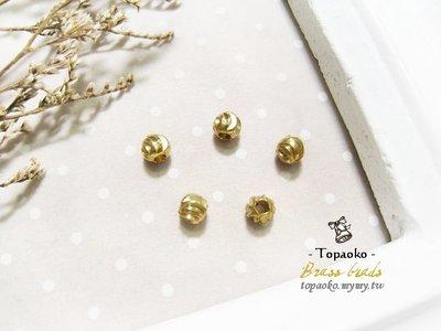 手作飾品˙串珠材料 黃銅實心圈紋圓珠一份【F7830~F7833】3/4/5/6mm項鍊耳環手鍊DIY《晶格格的多寶格》