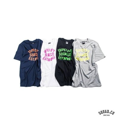 (MARVELOUS) SQUAD Fluorescent slogan T-Shirt SQ螢光城市標語Tee 四色