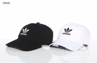 INDiCE ↗ Adidas Washed Strapback BH7135 / BH7137 水洗復古老帽 黑/白色