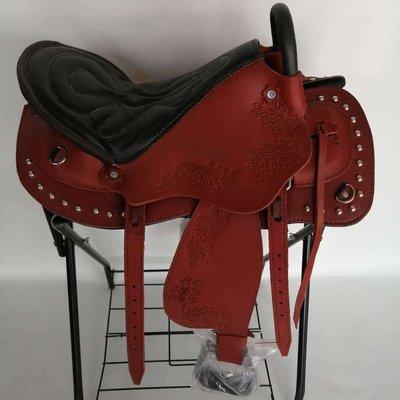 【臺*灣-齊全小鋪】馬鞍子雕花耐力鞍西部鞍全套馬具用品鑫磊馬具