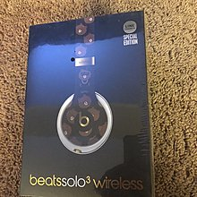 全新未拆(含運)beats solo 3 wireless brown bear 布朗熊頭戴式護耳官方網站專櫃同步無線耳機