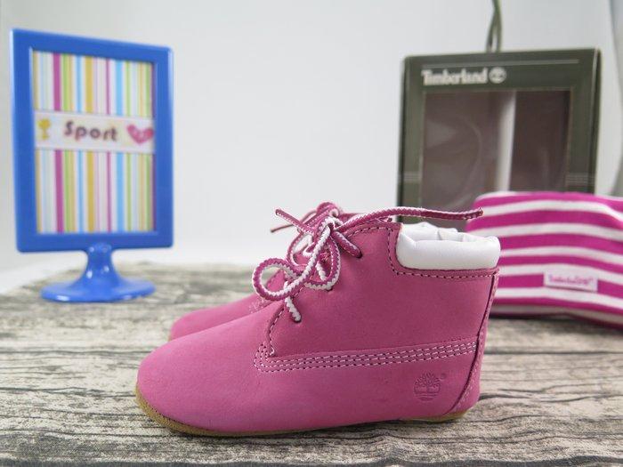 【iSport愛運動】Timberland 經典黃靴 粉紅BABY 小童鞋 9680R 尺寸4c=12cm