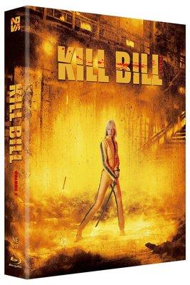 毛毛小舖--藍光BD 追殺比爾 KILL BILL 全紙盒限量鐵盒版 A款(中文字幕) 昆汀塔倫提諾 烏瑪舒曼