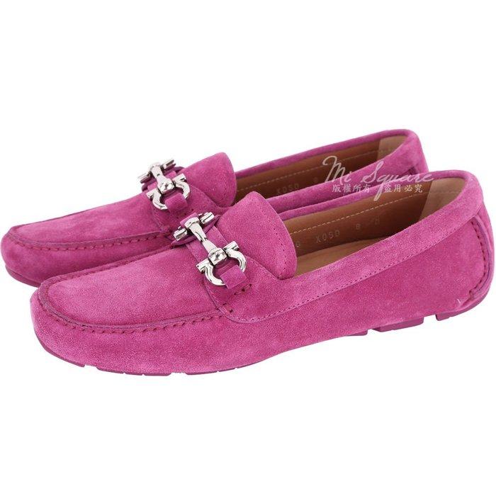 米蘭廣場 Salvatore Ferragamo PARIGI 馬蹄飾麂皮休閒鞋(桃紫色) 1720254-D4