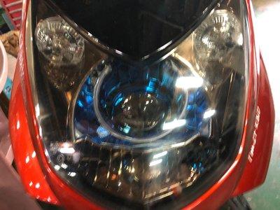 DJD19090616勁戰二代合法認證大燈GAMMAS GMS-D2版六代魚眼歐司朗燈泡(含驗車文件)嘉瑪斯公司貨