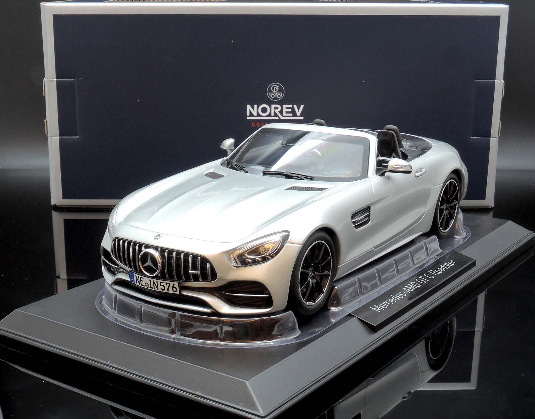 【M.A.S.H】現貨瘋狂價 Norev 1/18 Mercedes-Benz AMG GT C Roadster 銀