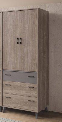 【生活家傢俱】SY-12-3※奧蘭多3尺衣櫃【台中9900送到家】開門式衣櫥 工業風 北歐風 低甲醛木心板 台灣製造