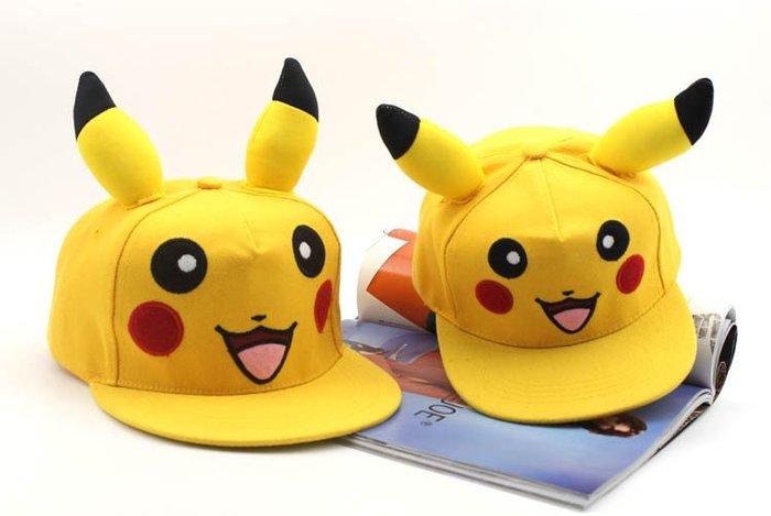 寶可夢 POKEMON 寵物小 精靈 神奇寶貝 口袋 妖怪 神奇寶貝 皮卡丘立體帽子/ 棒球帽.板帽(兒童款)