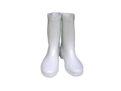 朝日牌白色女用雨鞋-特製耐力膠-有內襯-台灣製造--耐磨-好穿-批發價【小潔大批發】