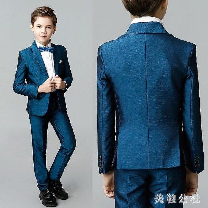 中大尺碼男童西裝套裝韓版走秀舞臺表演主持花童禮服兒童西裝男zzy7467
