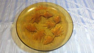紅色小館-------------金魚玻璃盤