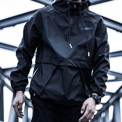 【PLUNDER 掠奪】機能運動防水多功能衝鋒衣潮牌衛衣k80485