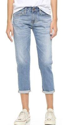 ◎美國代買◎AG Ex Boyfriend Slouchy Jeans淺藍刷色反摺褲口七分男朋友牛仔褲