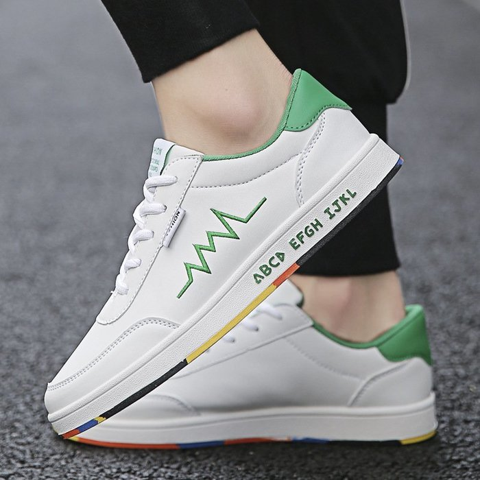 時尚男鞋男士小白鞋心電圖運動休閑鞋韓版爆款戶外防滑跑步鞋