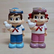 日本不二家 牛奶妹peko 水手服存錢桶 公仔擺飾 絕版玩具
