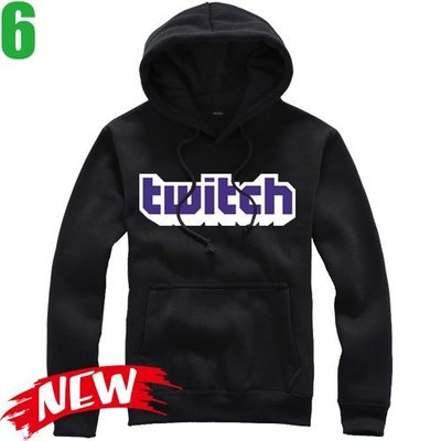 【Twitch】連帽厚絨長袖創意設計主題T恤(共5種顏色可供選購) 新款上市購買多件多優惠!【賣場二】