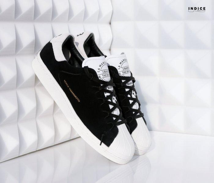 INDiCE ↗ Adidas Y-3 Super Knot AC7405 麂皮運動休閒鞋 黑色/象牙白 女段