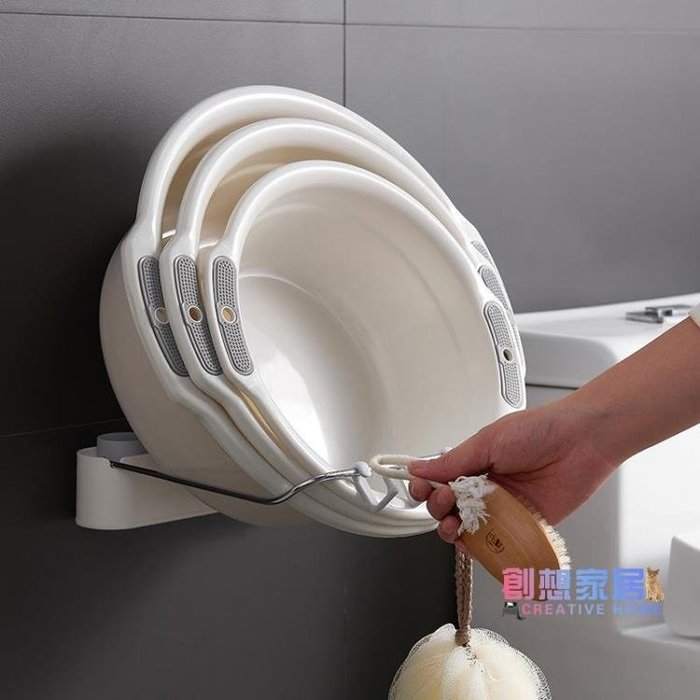 【免運費】臉盆架 衛生間里臉盆架壁掛式免打孔浴室洗手間廁所置物簡易廚房墻上墻壁【】