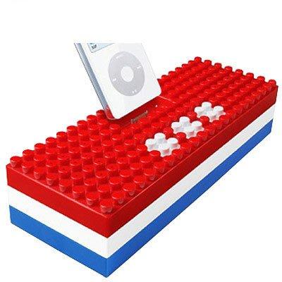 ~鬼月破盤~iPod 積木 喇叭,再送 變壓器,可當成 iPod 的充電座唷! 最後
