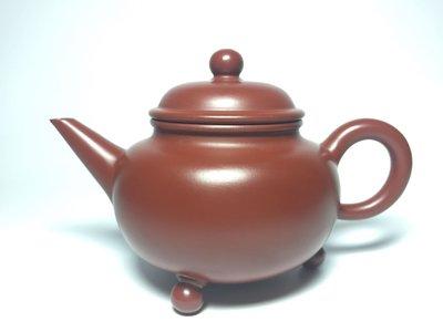 紫砂壺~三足水平標準壺/大紅袍~
