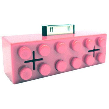 《最後出清》iPod 系列專屬的迷你小喇叭! 積木造型,只剩 粉紅色!最後出清價