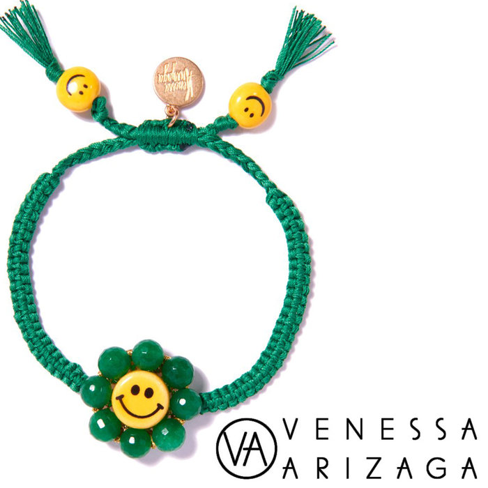 Venessa Arizaga HAPPY FLOWER BRACELET (GREEN) 笑臉手鍊