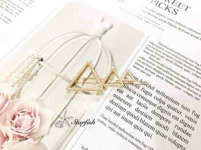 【海星 Starfish】韓妞三角幾何造型珍珠髮夾