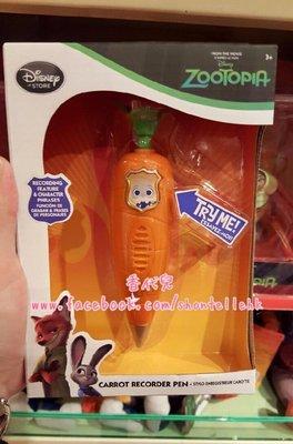 香港 迪士尼代購 動物方程式 動物方城市 茱蒂 尼克  狐狸 原子筆 錄音筆 胡蘿蔔造型筆 茱蒂筆  (香代兒)