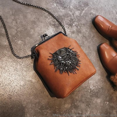 ulzzang小包包女新款潮韓版 百搭斜挎單肩chic鏈條時尚夾口包 韓版日系時尚單肩包 側背包背包 休閒旅行包挎包