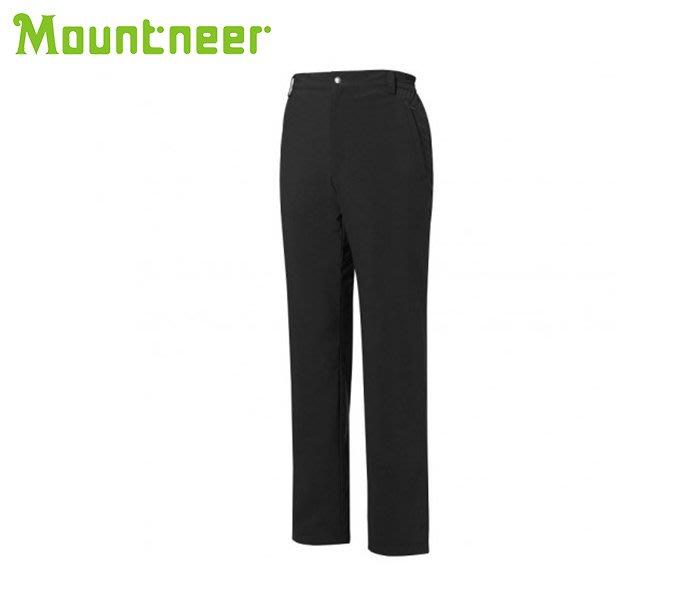 丹大戶外【Mountneer】山林休閒 男彈性防風防潑水長褲 12S37-01 黑色