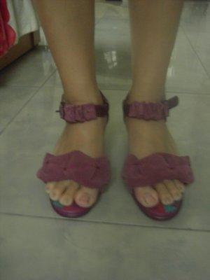 Macanna~義大利麥坎納//麥坎那//氣墊真皮涼鞋~~24號涼鞋(9成新)