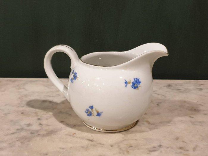 【卡卡頌 歐洲古董】德國  巴伐利亞 老件  小藍花   奶盅  p1881 ✬
