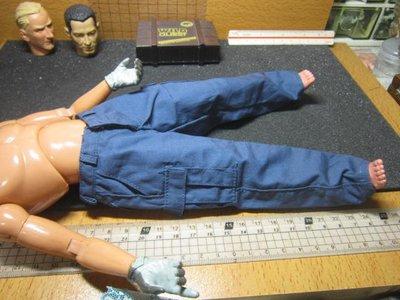 PJ3特警部門 洛杉磯SWAT款1/6深藍色制服長褲一件(四口袋可置物)