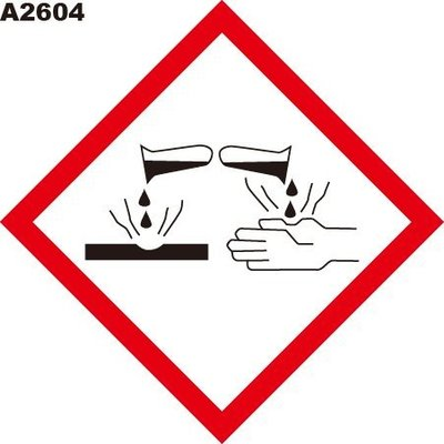 GHS危險物標示貼紙 A2604 危害標示貼紙 腐蝕 [飛盟廣告 設計印刷]